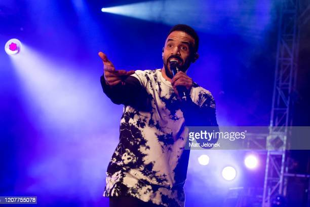Craig David performs on stage at Chevron Lighthouse on February 21 2020 in Perth Australia