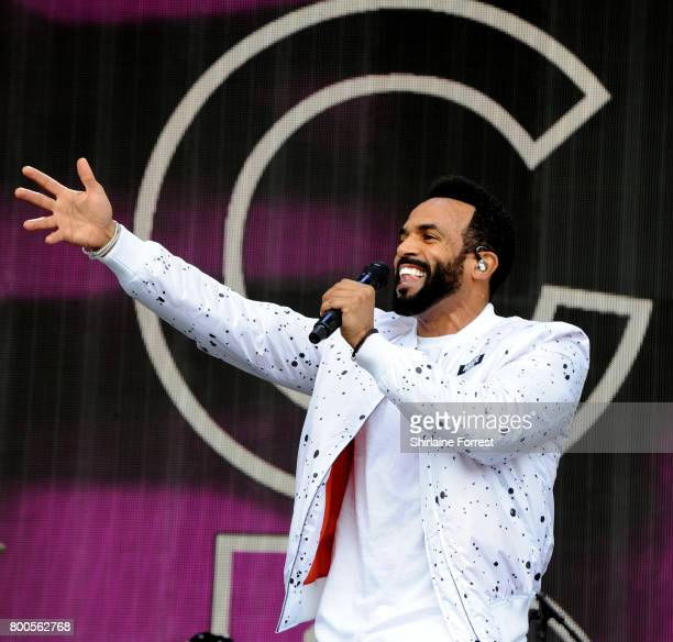 Craig David performs on the Pyramid stage on day 3 of the Glastonbury Festival 2017 at Worthy Farm Pilton on June 24 2017 in Glastonbury England
