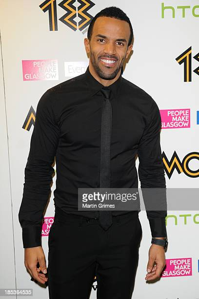 Craig David poses at the 18th anniversary MOBO Awards at The Hydro on October 19 2013 in Glasgow Scotland