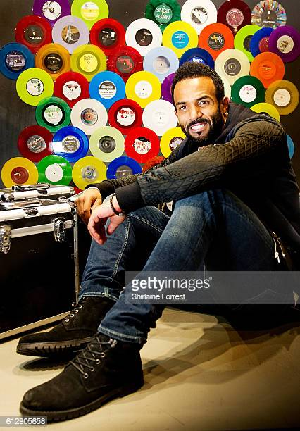 Craig David poses backstage after performing live and signing copies of his new album 'Following My Intuition' at HMV Manchester on October 5 2016 in...