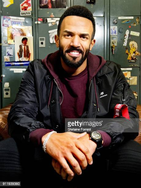 Craig David poses backstage before meeting fans and signing copies of his new album 'The Time Is Now' at HMV on January 29 2018 in Manchester England