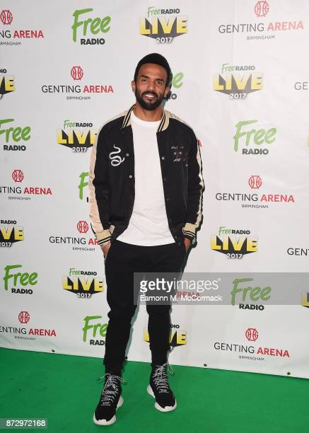 Craig David poses before performing during Free Radio Live held at Genting Arena on November 11 2017 in Birmingham England