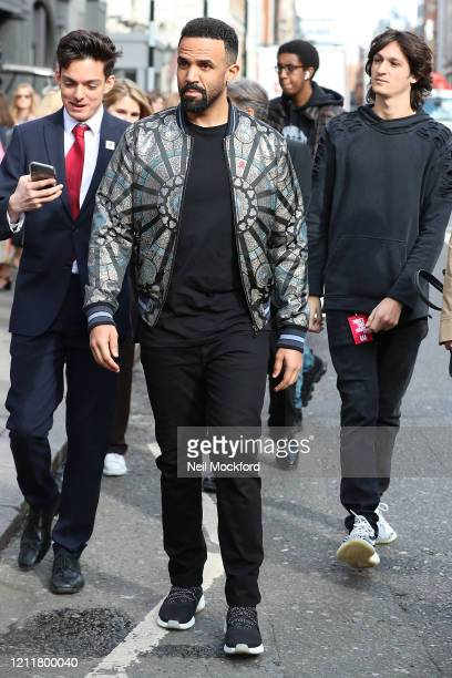 Craig David seen arriving for The Prince's Trust Awards at the London Palladium on March 11 2020 in London England