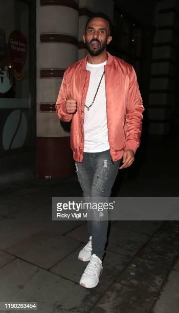 Craig David seen leaving Fayre of St James Christmas Carol Concert held at St James's Church on November 26 2019 in London England
