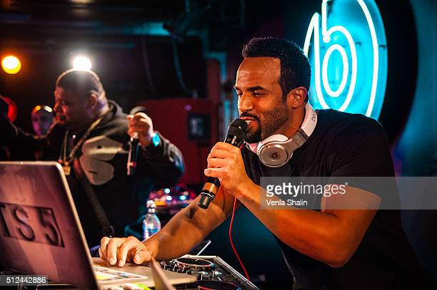 Craig David with Big Narstie performs at The 100 Club on February 24 2016 in London England