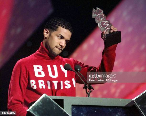 Craig David with the Capital FM Best UK Single Award for Fill Me In at the Music of Black Origin awards at Alexandra Palace in London