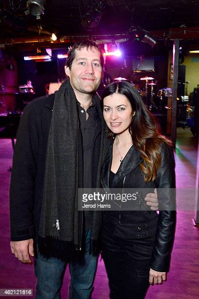 Craig Davidson and Leilani Munter attend the 'RACING EXTINCTION' after party at the Sundance Film Festival 2015 on January 24 2015 in Park City Utah