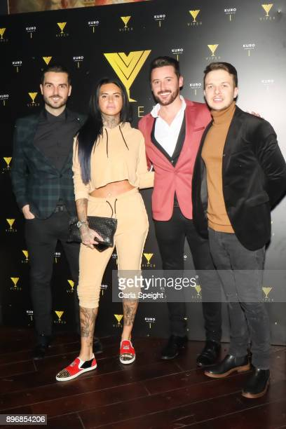 Craig Davies Jemma Lucy Stephen Powell Craig Gidley attend 'Vipers First Christmas' event at Impossible on December 21 2017 in Manchester England