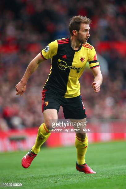 Craig Dawson of Watford during the Premier League match between Manchester United and Watford FC at Old Trafford on February 23 2020 in Manchester...