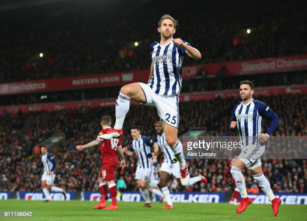 Craig Dawson of West Bromwich Albion celebrates before his goal is dissalowed via the VAR system during The Emirates FA Cup Fourth Round match...