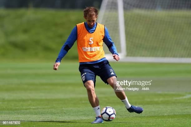 Craig Dawson of West Bromwich Albion during a West Bromwich Albion Training Session on April 26 2018 in West Bromwich England