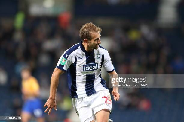 Craig Dawson of West Bromwich Albion during the Carabao Cup Second Round match between West Bromwich Albion and Mansfield Town at The Hawthorns on...