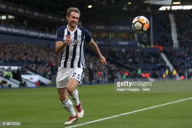 Craig Dawson of West Bromwich Albion during the Emirates FA Cup Fifth Round between West Bromwich Albion and Southampton at The Hawthorns on February...