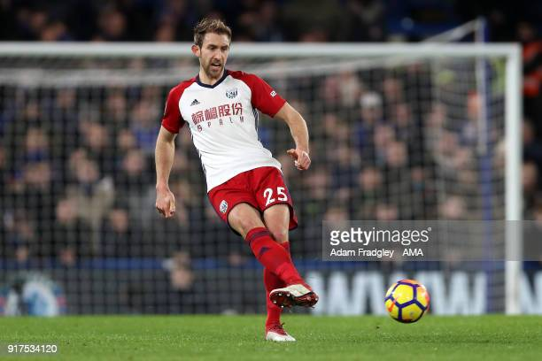 Craig Dawson of West Bromwich Albion during the Premier League match between Chelsea and West Bromwich Albion at Stamford Bridge on February 12 2018...