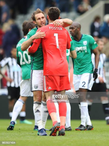 Craig Dawson of West Bromwich Albion is seen at full time during the Premier League match between Newcastle United and West Bromwich Albion at St...