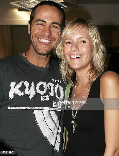 Craig Ellis and Ella Hilbert attend the Myer VIP Parade of Autumn/Winter 05 collection as part of the L'Oreal Fashion Festival at Mural Hall Myer...