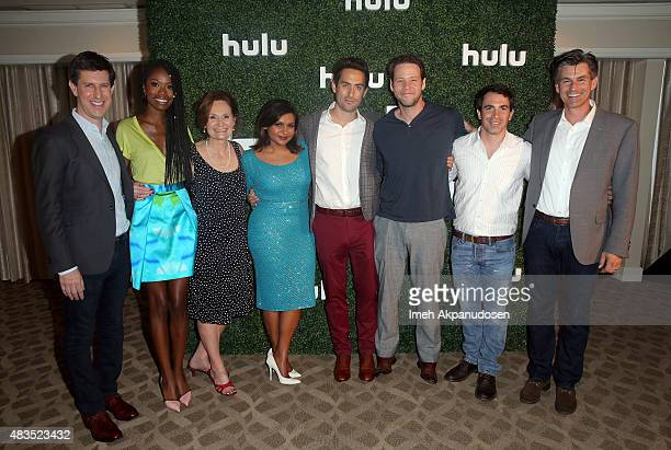 Craig Erwich SVP and Head of Content at Hulu actors Xosha Roquemore Beth Grant Mindy Kaling Ed Weeks Ike Barinholtz Chris Messina and Chief Executive...