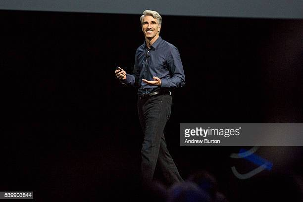 Craig Federighi Apple's senior vice president of Software Engineering introduces the new macOS Sierra software at an Apple event at the Worldwide...