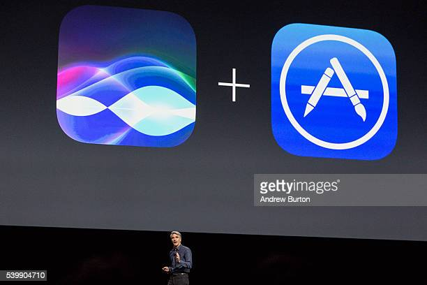 Craig Federighi Apple's senior vice president of Software Engineering introduces the new iOS software at an Apple event at the Worldwide Developer's...
