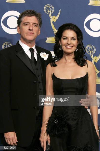 Craig Ferguson and Sela Ward presenters during The 57th Annual Emmy Awards Press Room at Shrine Auditorium in Los Angeles California United States