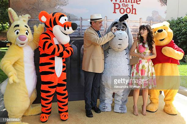 Craig Ferguson and Zoey Deschanel arrive at The Los Angeles Premiere of 'Winnie The Pooh' held at The Walt Disney Studios on July 10 2011 in Burbank...