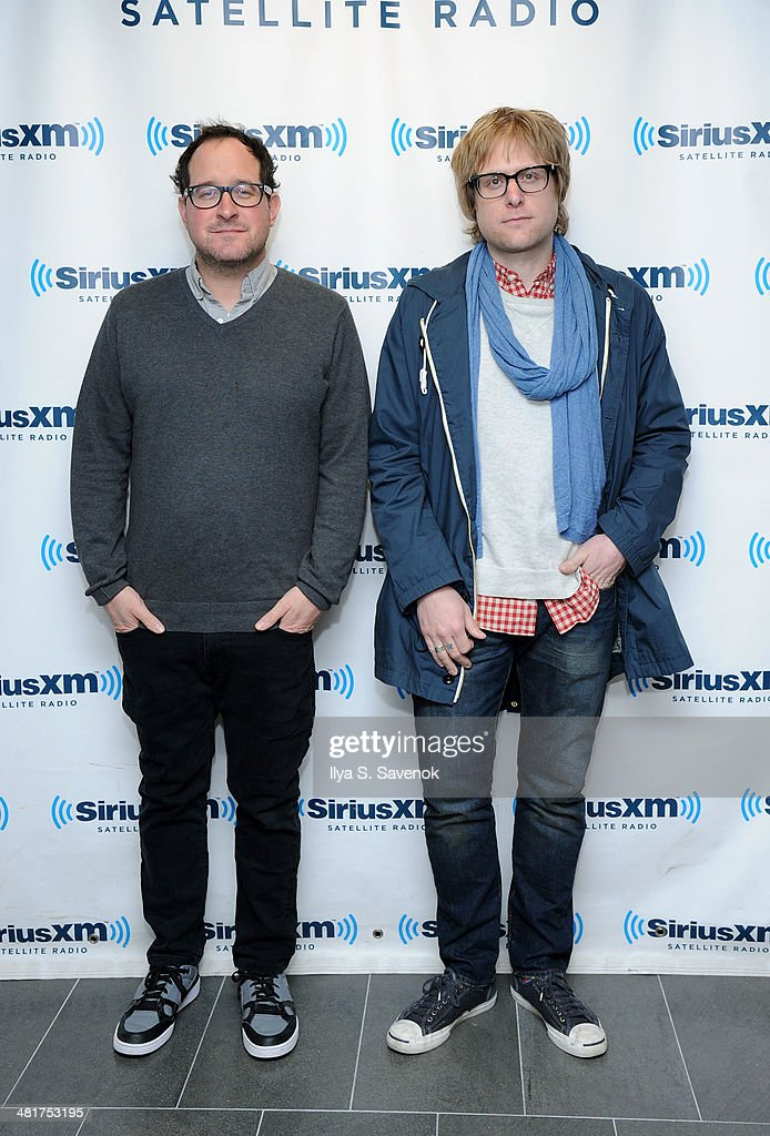 Craig Finn and Tad Kubler of The Hold Steady visit the SiriusXM Studios on March 31, 2014 in New York City.