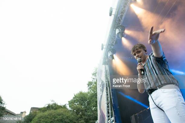 Craig Fitzgerald of The Academic performs at the Iveagh Gardens on July 20, 2018 in Dublin, Ireland.