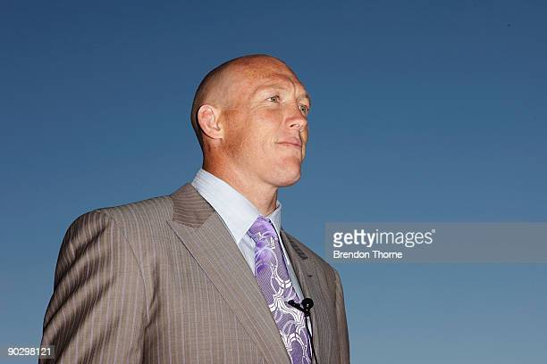 Craig Fitzgibbon talks with guests during Gai Waterhouse's 'Mad Hatter's' Birthday Party at Royal Randwick Racecourse on September 2 2009 in Sydney...