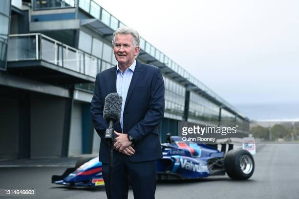 Craig Fletcher, Australian Grand Prix Corporation, General Manager of Motorsport, Entertainment and Industry speaks to the media during the...