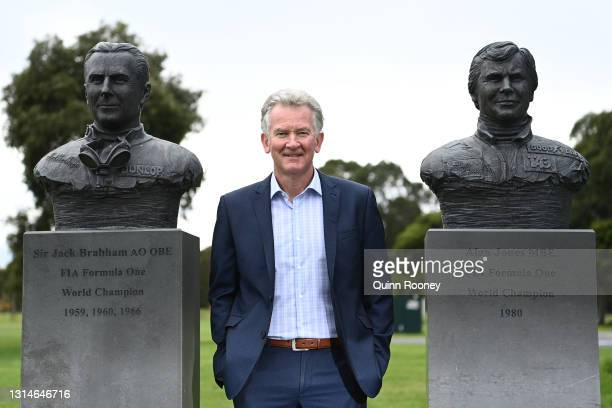 Craig Fletcher, Australian Grand Prix Corporation, General Manager of Motorsport, Entertainment and Industry poses during the announcement that the...