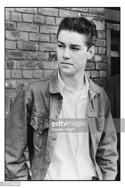 Guitarist Craig Gannon second guitarist with The Smiths poses for a portrait in Manchester 1986