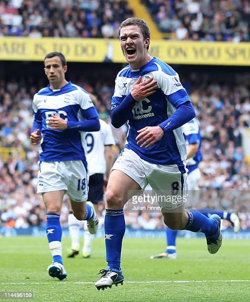 Craig Gardner of Birmingham City celebrates his goal during the Barclays Premier League match between Tottenham Hotspur and Birmingham City at White...