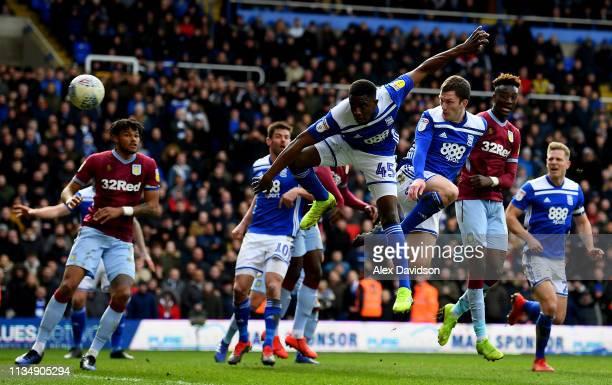 Craig Gardner of Birmingham misses a header during the Sky Bet Championship match between Birmingham City and Aston Villa at St Andrew's Trillion...