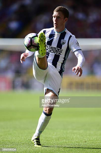 Craig Gardner of West Bromwich Albion in action during the Premier League match between Crystal Palace and West Bromwich Albion at Selhurst Park on...