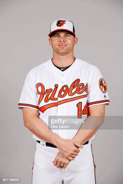 Craig Gentry of the Baltimore Orioles poses during Photo Day on Tuesday February 20 2018 at Ed Smith Stadium in Sarasota Florida