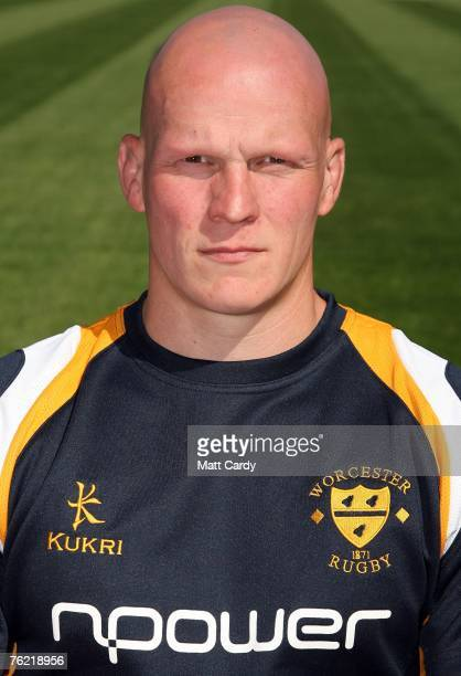 Craig Gillies of Worcester Warriors during the Worcester Warriors Media Day at Sixways Stadium on August 22, 2007 in Worcester, England