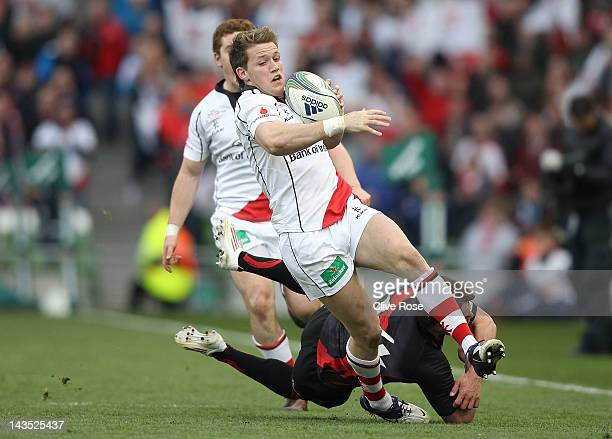 Craig Gilroy of Ulster in action during the Heineken Cup semi final match between Ulster and Edinburgh at Aviva Stadium on April 28 2012 in Dublin...