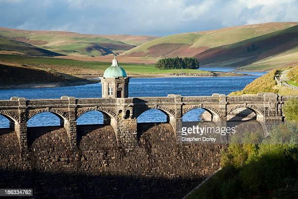 Craig Goch Reservoir dam, Elan Valley, Wales UK