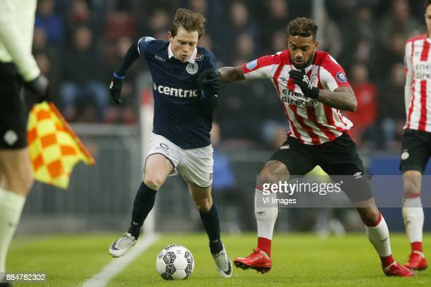 Craig Goodwin of Sparta Rotterdam Jurgen Locadia of PSV during the Dutch Eredivisie match between PSV Eindhoven and Sparta Rotterdam at the Phillips...