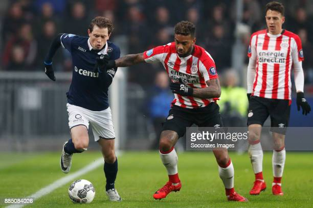 Craig Goodwin of Sparta Rotterdam Jurgen Locadia of PSV during the Dutch Eredivisie match between PSV v Sparta at the Philips Stadium on December 3...