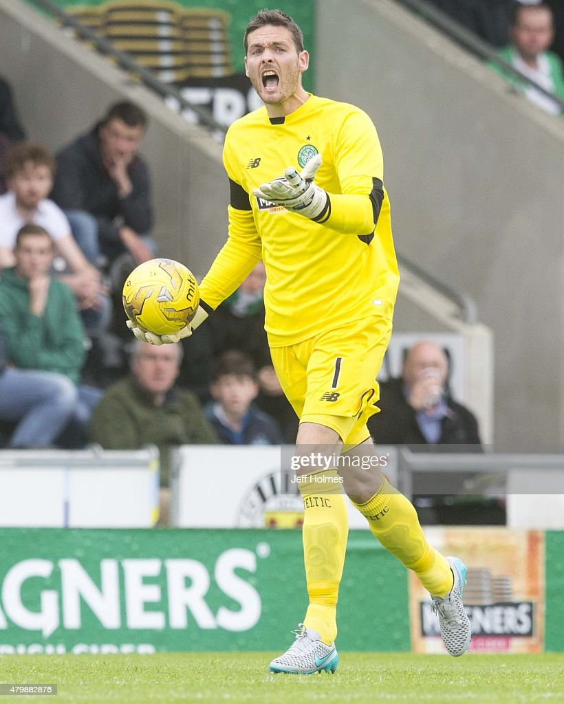 Craig Gordon of Celtic at the Pre Season Friendly between Celtic and FK Dukla Praha at St Mirren Park on July 04, 2015 in Paisley, Scotland.