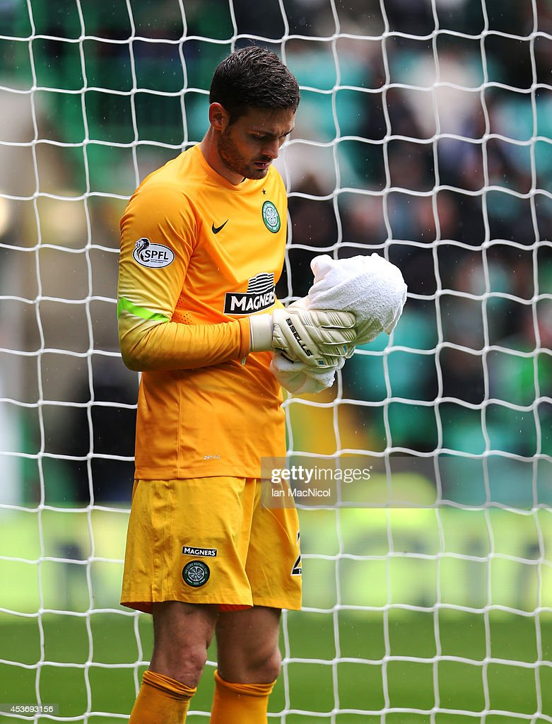 Craig Gordon of Celtic during the Scottish Premiership League Match between Celtic and Dundee United, at Celtic Park on August 16, 2014 Glasgow, Scotland.