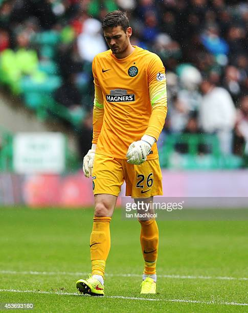 Craig Gordon of Celtic during the Scottish Premiership League Match between Celtic and Dundee United at Celtic Park on August 16 2014 Glasgow Scotland