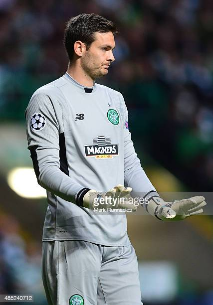 Craig Gordon of Celtic in action during the UEFA Champions League Qualifying play off first leg match between Celtic FC and Malmo FF at Celtic Park...