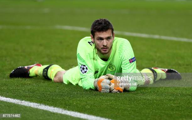 Craig Gordon of Celtic looks on dejected after PSG score their seventh goal during the UEFA Champions League group B match between Paris SaintGermain...