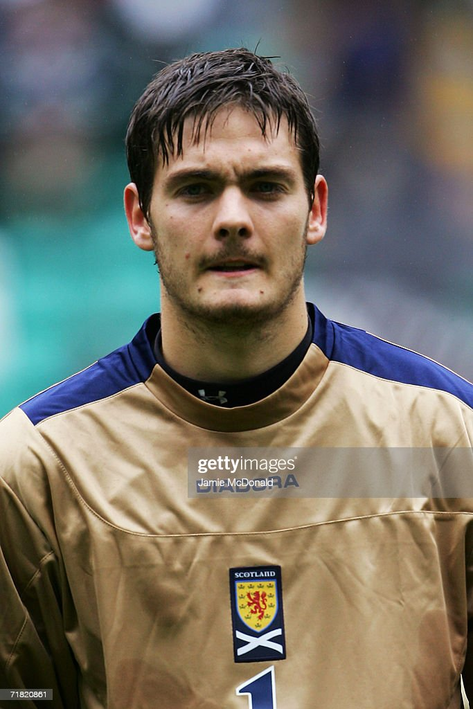 Craig Gordon of Scotland looks on prior to the Euro 2008 Qualifying Group B match between Scotland and Faroe Islands at Celtic Park on September 2, 2006 in Glasgow, Scotland.