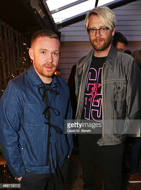 Craig Green and Charlie Porter attend Shoreditch House for the British Fashion Council NEWGEN MEN SS16 winners ceremony hosted by Grey Goose and Soho...