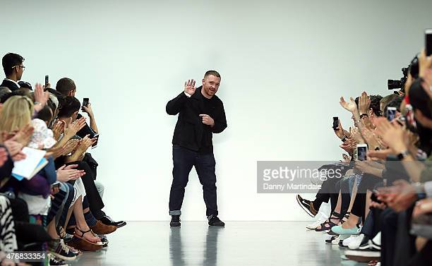 Craig Green walks the runway at the Craig Green show during The London Collections Men SS16 at Victoria House on June 12, 2015 in London, England.