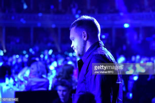 Craig Green winner of British Designer of the Year Menswear award on stage during The Fashion Awards 2018 In Partnership With Swarovski at Royal...