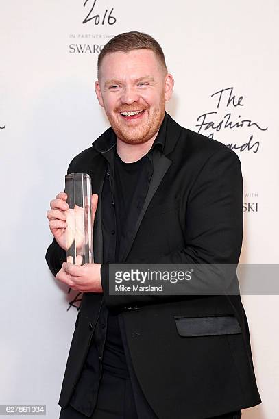 Craig Green winner of the British Menswear Designer award at The Fashion Awards 2016 at Royal Albert Hall on December 5 2016 in London England